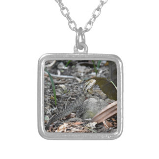 WATER DRAGON RURAL QUEENSLAND AUSTRALIA SILVER PLATED NECKLACE