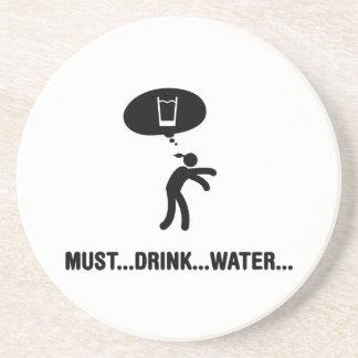 Water Drinker Beverage Coasters