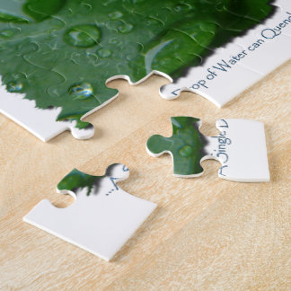 Water Drip on Leaf Water Conservation Design Puzzle