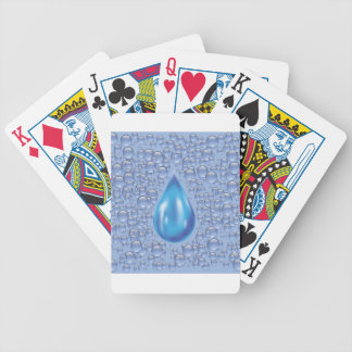 water drop bicycle playing cards
