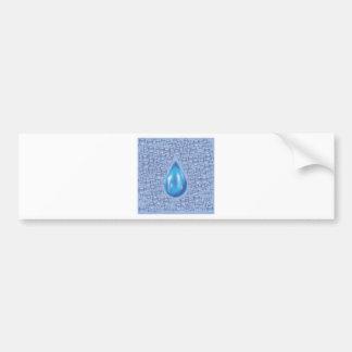 water drop bumper sticker