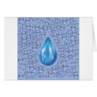 water drop card