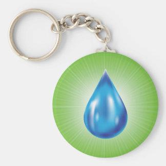 water drop keychain
