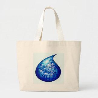 Water Drop Large Tote Bag