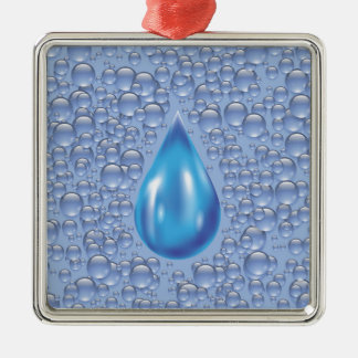 water drop metal ornament