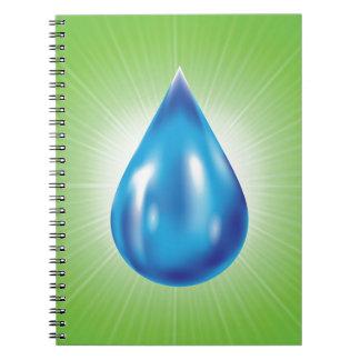 water drop notebook