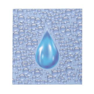 water drop notepad