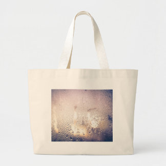 Water Drop on Glass 2 Large Tote Bag