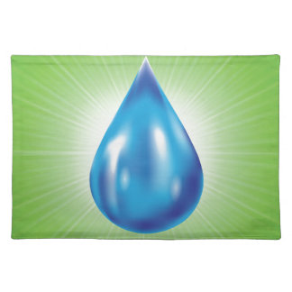 water drop placemat