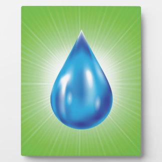 water drop plaque