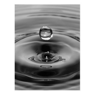 Water drop slow motion art design postcard
