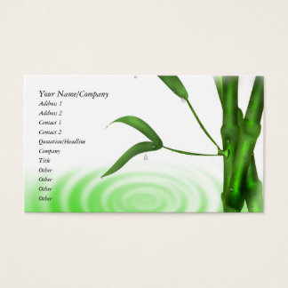 Bamboo Business Cards and Business Card Templates