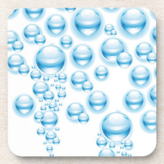 Water droplets drink coaster