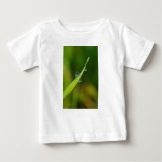 Water Droplets on a Green Blade of Grass Baby T-Shirt