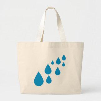 Water drops large tote bag