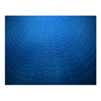 Water drops on a spider web (Blue) Postcard