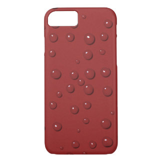 Water drops on amaranth red sand Case-Mate iPhone case