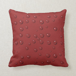 Water drops on amaranth red sand throw pillow