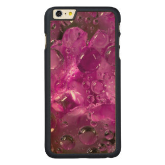 Water drops on flower, California Carved® Maple iPhone 6 Plus Case