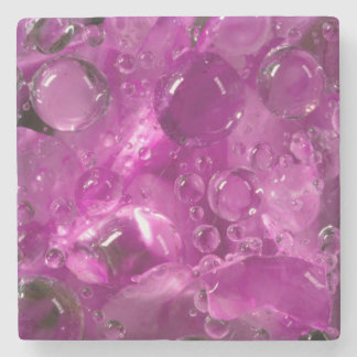 Water drops on flower, California Stone Coaster