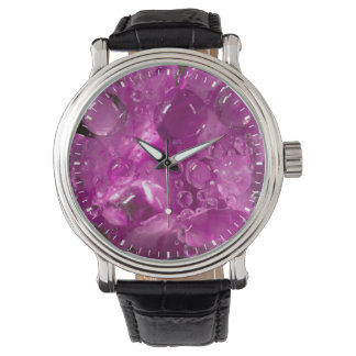 Water drops on flower, California Wrist Watches