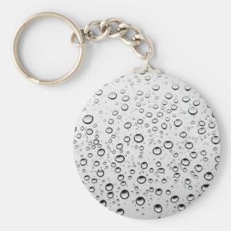 Water drops on window basic round button keychain