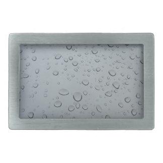 Water Drops on Window, Rain Wallpaper Background Rectangular Belt Buckle