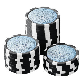 Water Drops Poker Chips