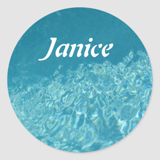 Water Effect Classic Round Sticker