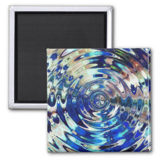 WATER Element Ripple Pattern Square Magnet