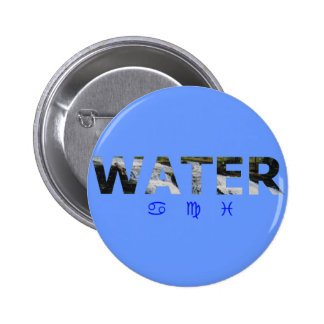 Water Element with Zodiac Signs Pins