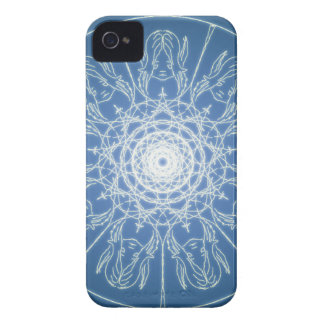 Water Elf Fairy Pentagram Wicca Pagan Spiral Snow iPhone 4 Case-Mate Case