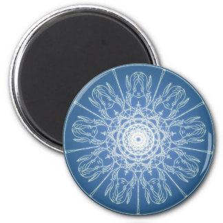 Water Elf Fairy Pentagram Wicca Pagan Spiral Snow Magnet