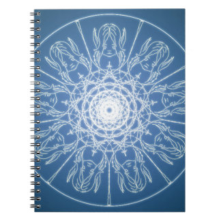 Water Elf Fairy Pentagram Wicca Pagan Spiral Snow Notebook