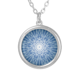 Water Elf Fairy Pentagram Wicca Pagan Spiral Snow Silver Plated Necklace