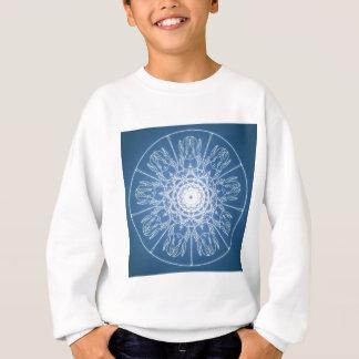 Water Elf Fairy Pentagram Wicca Pagan Spiral Snow Sweatshirt