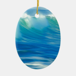 Water Emerald Wave Olympic National Park Ceramic Ornament