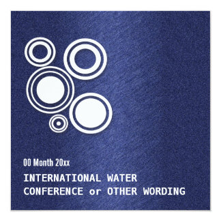 """Water energy business conference 5.25"""" square invitation card"""