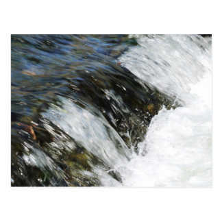 Water fall at a brook run postcard