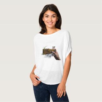 water fall phone nature T-Shirt
