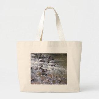 Water falls large tote bag