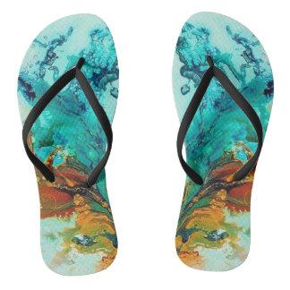 Water Flower Shima Zori Flip Flops