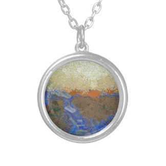 Water for melting ice silver plated necklace