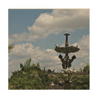 Water Fountain at Hollis Gardens Wood Wall Decor