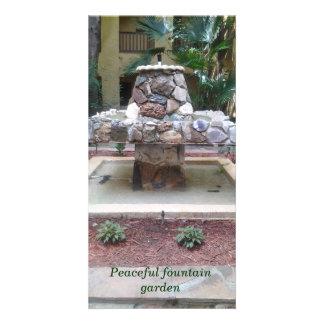 Water fountain photocard customized photo card