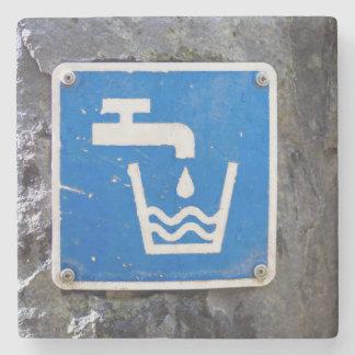 Water Fountain Symbol Marble Coaster Stone Beverage Coaster