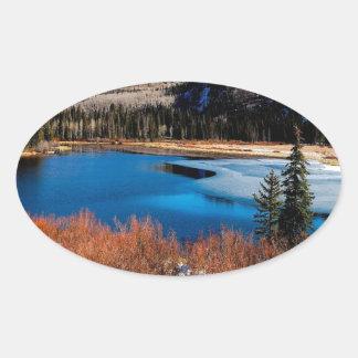 Water Frosty Beginning Oval Sticker