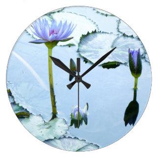Water Garden Waterlily Flowers Pond Wall Clock