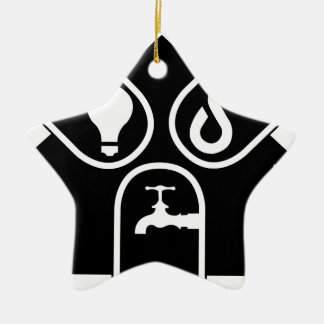 Water Gas Electric Ceramic Ornament