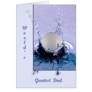 Water Hazard Greeting Card
